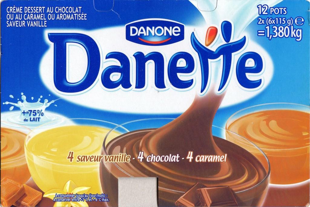 Danette 4 Saveur Vanille 4 Chocolat 4 Caramel X12 Jpg